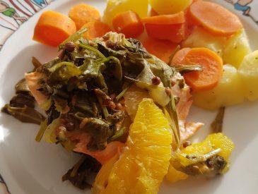Saumon en vapeur d'agrumes  [Microvap Tupperware]