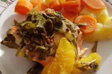 Saumon en vapeur d'agrumes [micro vap' Tupperware]