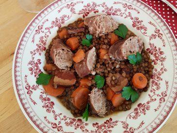 Saucisses & lentilles, le plat d'hiver par excellence