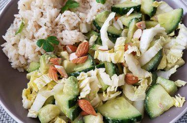 Salade de crudités au miso