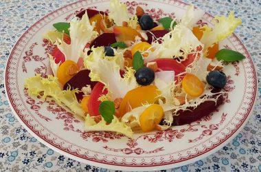 Salade de betteraves multicolore & friseline