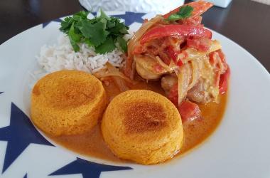 Poulet au curry & lait de coco