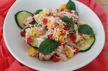 Salade de riz au thon & mangue