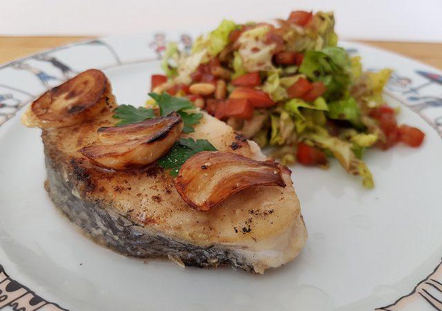 Merlu A L Ail A La Plancha Audrey Cuisine