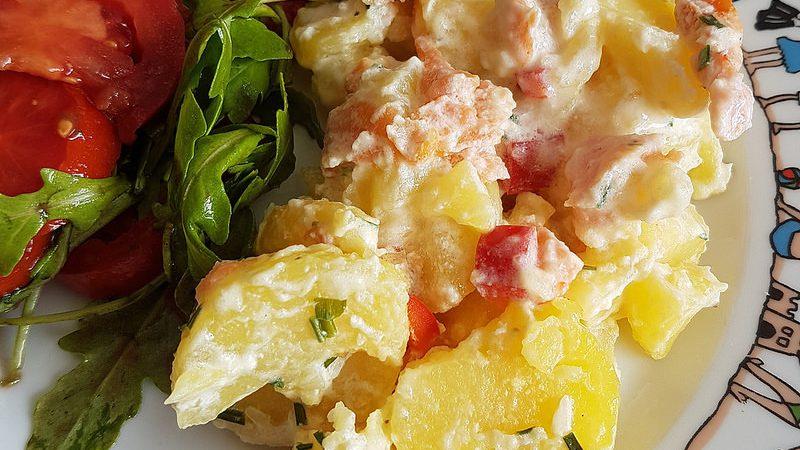Gratin De Pommes De Terre Au Saumon Fume Audrey Cuisine