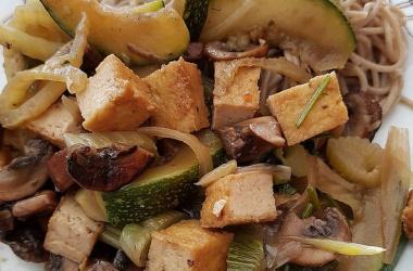 Wok de légumes sautés au Tofu