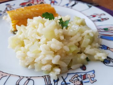 Risotto au fenouil et citron  [Microvap Tupperware]