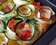 Spirales de courgettes & bacon en clafoutis salé