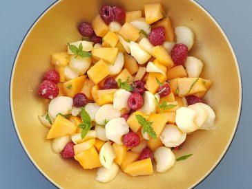 Salade de fruits à la menthe