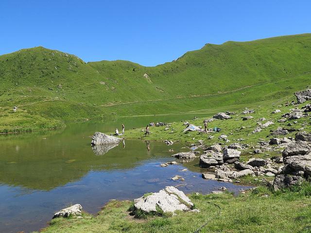 Le lac vert par Mossettes