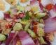 Taboulé aux légumes d'été, œufs mimosa au saumon