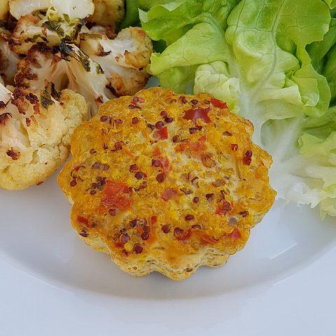 C'est lundi c'est veggie : moelleux au quinoa & chou fleur rôti