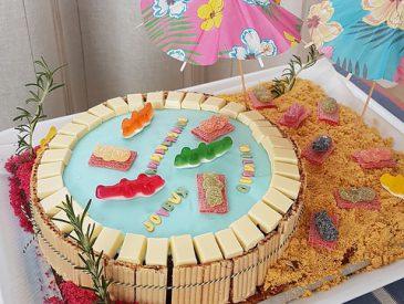 Gâteau piscine pour l'anniversaire de mon p'tit bonhomme