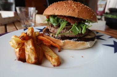 Burger boeuf & aubergines, Ketchup maison balsamique