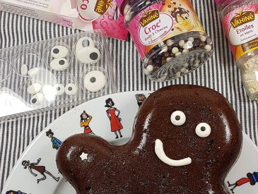 Gâteau au chocolat bonhomme