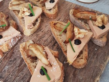 Tartines foie gras & cèpes