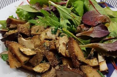 Le lundi c'est veggie : poêlée de seitan aux champignons