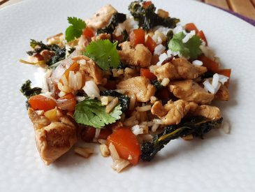 Wok de poulet aux légumes sauce Teriyaki