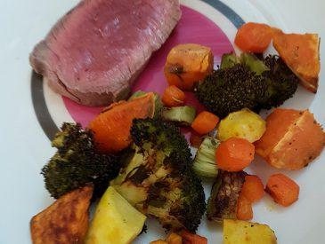 Rosbeef & légumes au four