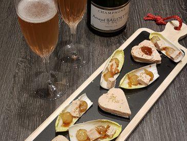 Duo de foie gras & poire pour la St Valentin