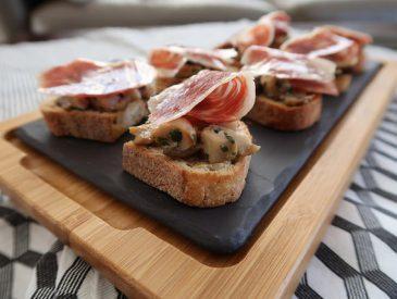 Tapas de champignons & jambon Pata Negra Bellota
