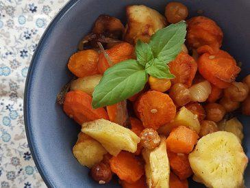Légumes au four au cumin