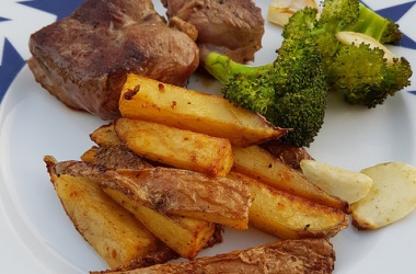 Frites au four rustiques, comme des potatoes