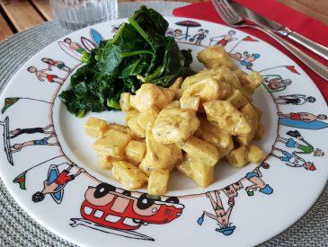 Sauté de dinde & chou au curry