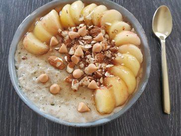 Porridge pèche & amandes