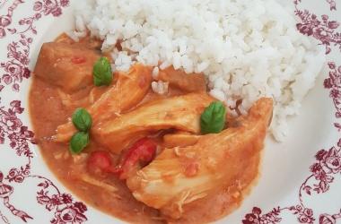 Mafé de poulet pour utiliser un reste de poulet rôti