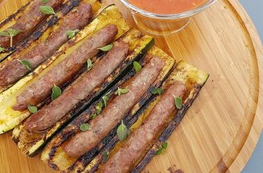 Courgettes aux saucisses