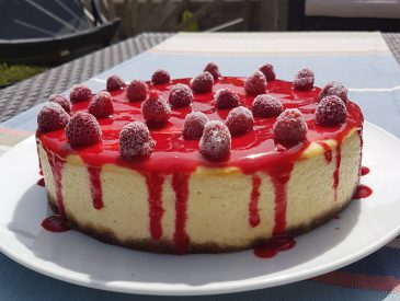 Cheesecake citron framboises