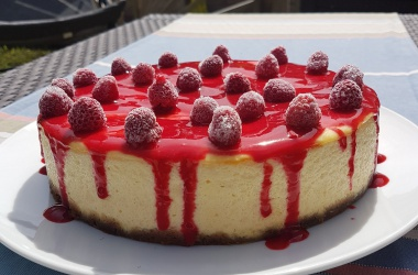 Cheesecake citron framboises