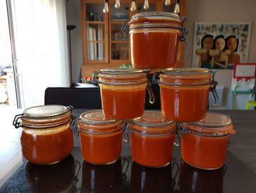 Conserves de sauce tomate maison
