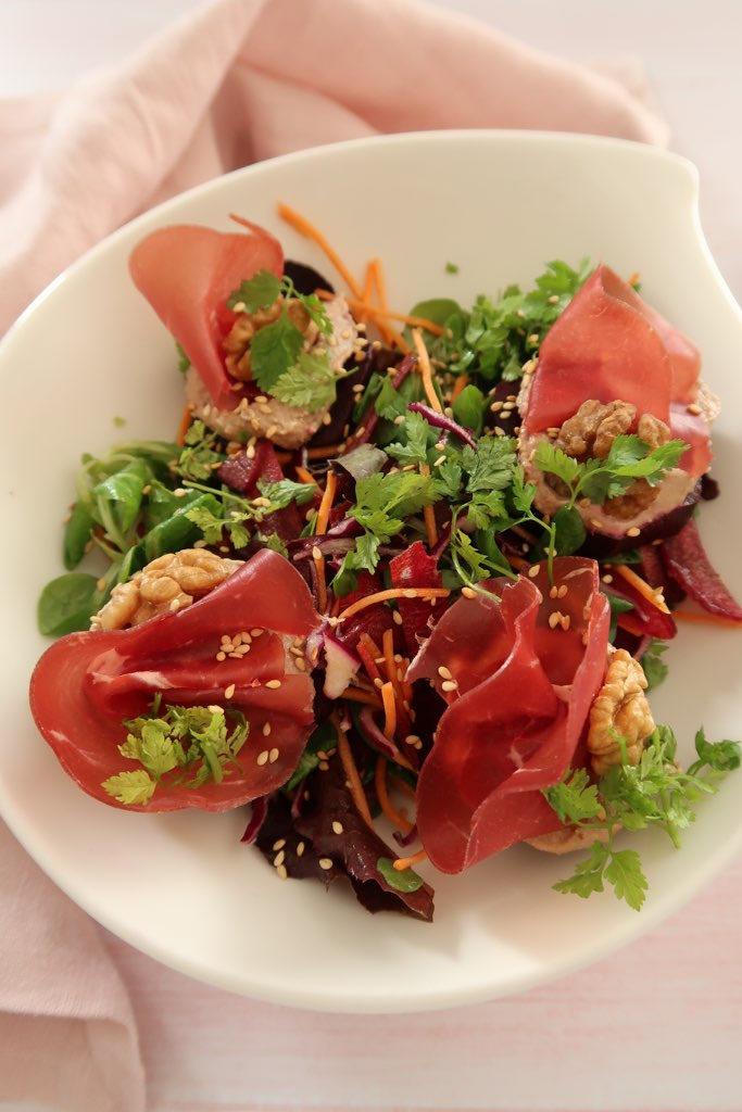 Salade d'automne, betterave & mache