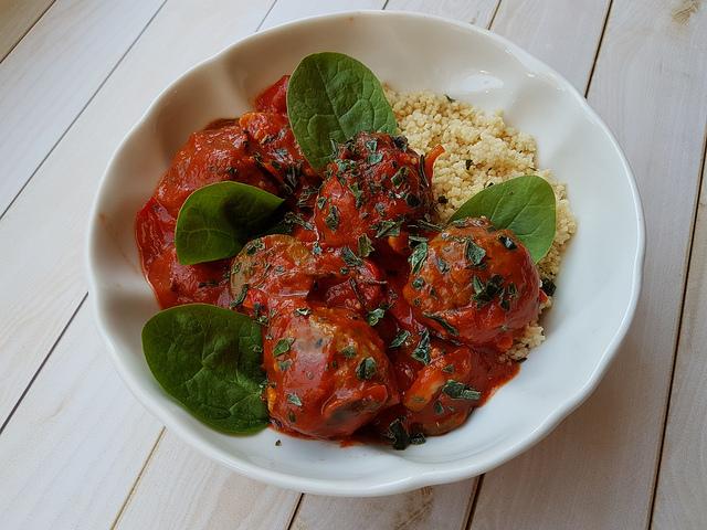 Les boulettes parfaites, sauce tomate au basilic