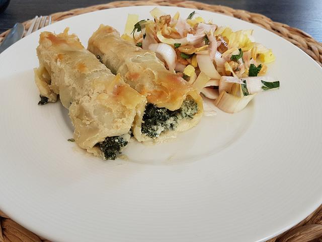 Cannelloni au kale et à la ricotta
