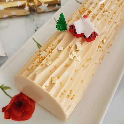 Bûche de Noël à l'abricot et au caramel [Noël]
