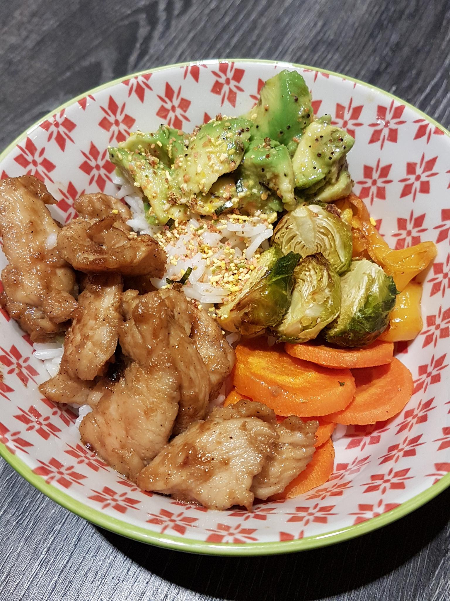 Bowl de poulet à la coréenne