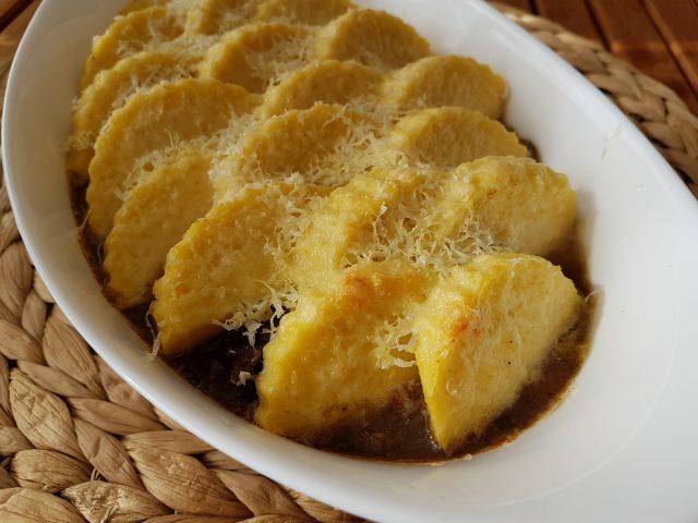 Gratin de Bourguignon à la polenta