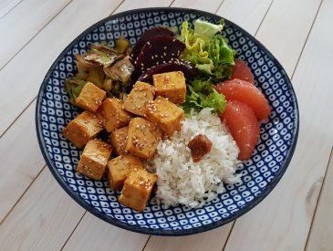 Veggie Bowl au tofu à l'orange