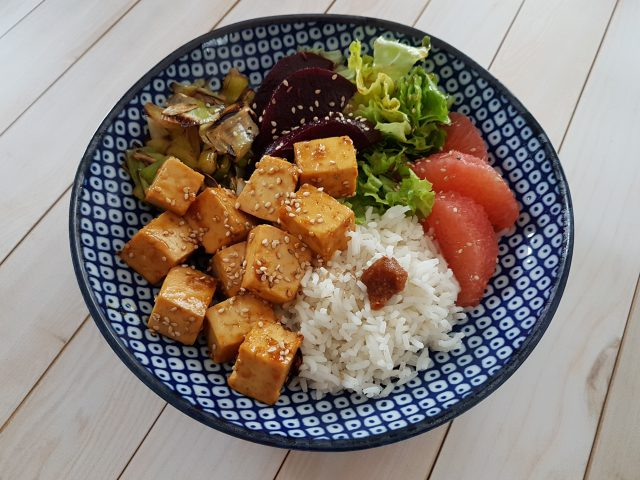 Veggie Bowl au tofu à l'orange