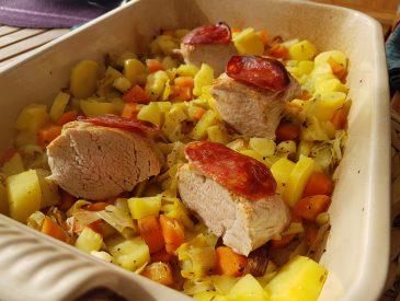 Filet mignon au chorizo cuit au four