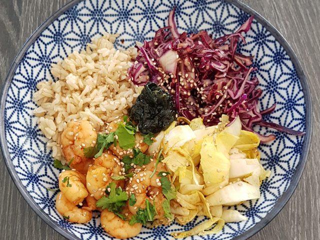 Buddha bowl aux crevettes [recette ww]