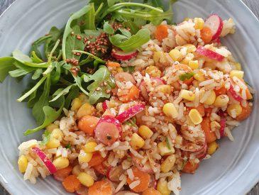 Ma salade de riz multicolore