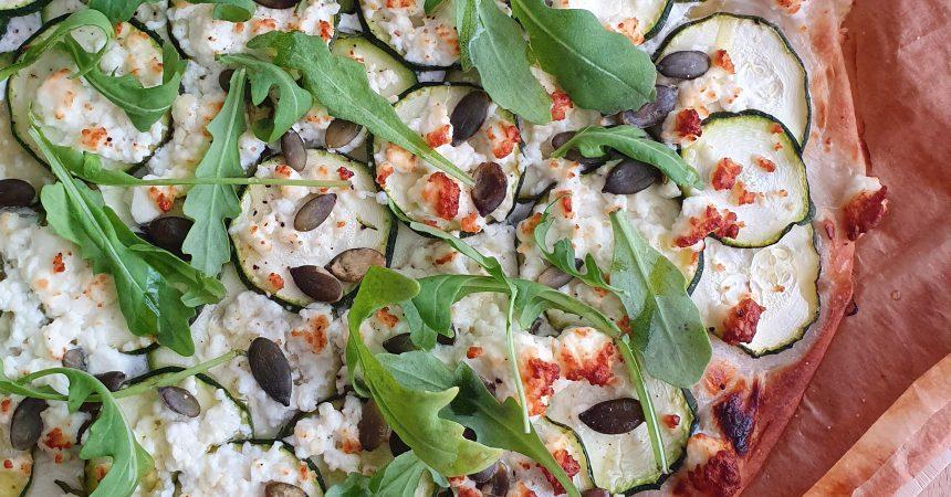 pizza courgette feta