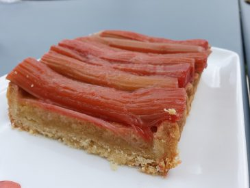 Tarte rectangle à la rhubarbe