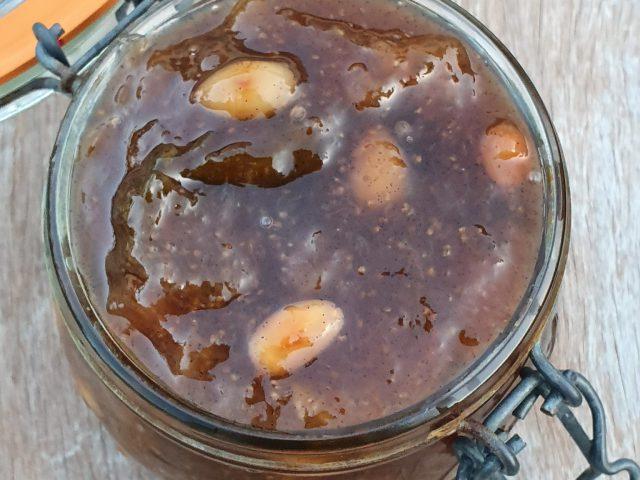 Confiture de figues blanches à la vanille et aux amandes