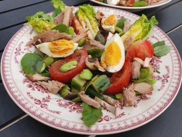 Ma p'tite salade un peu niçoise …