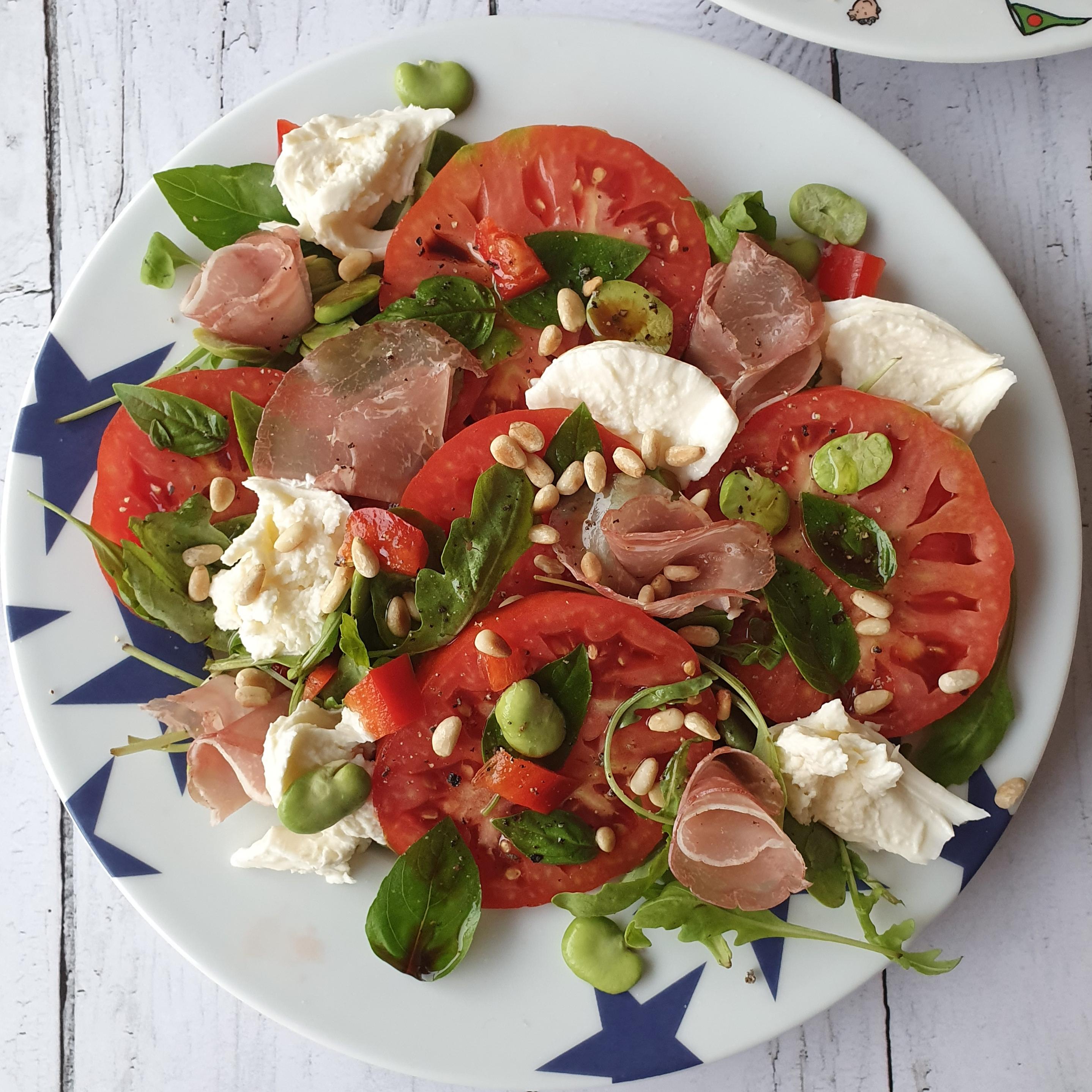 Salade roquette, tomate et mozzarella